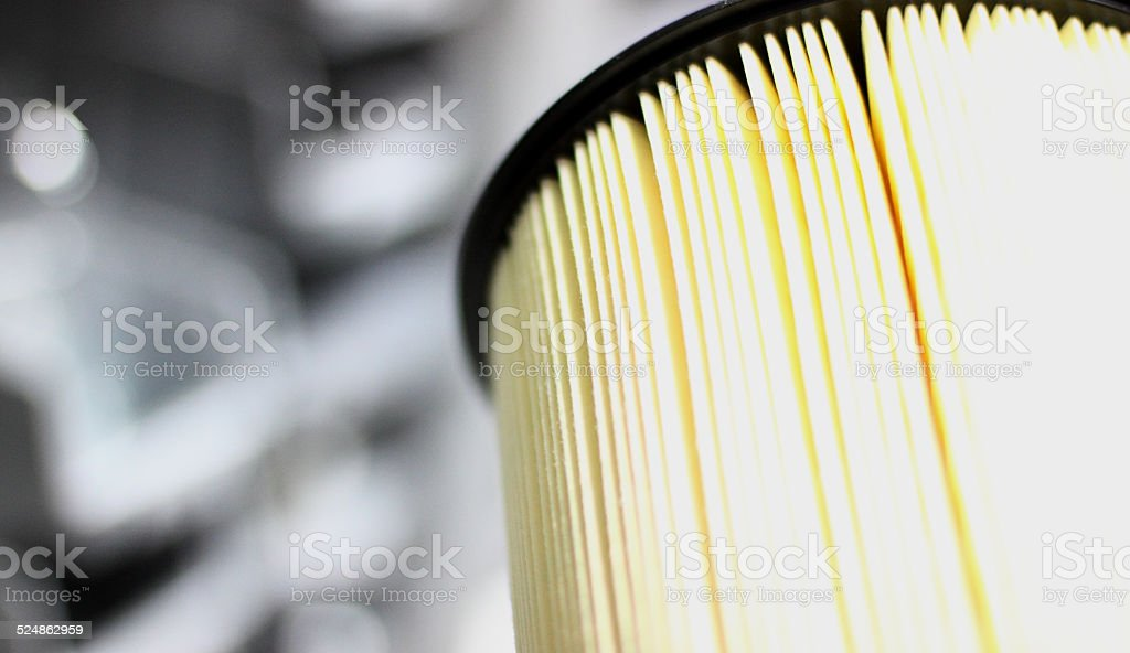 Big clean filter stock photo