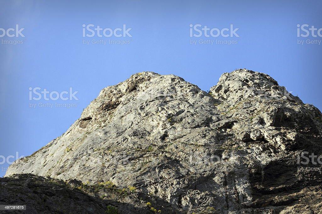 big climbing limestone wall stock photo