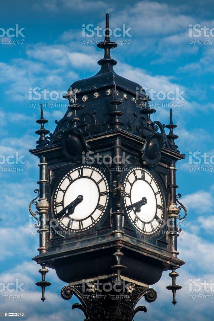 Big clock at Swan Hunter stock photo