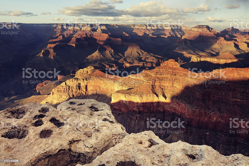 Big clouds above the Grand Canyon, Arizona, USA royalty-free stock photo