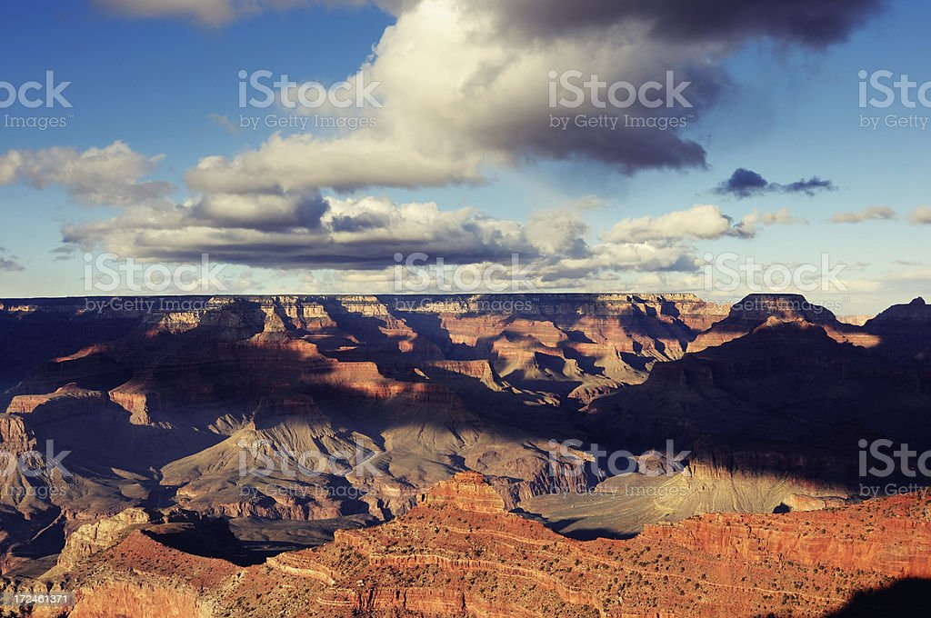 Big clouds above the Grand Canyon, Arizona, USA royalty-free stock photo