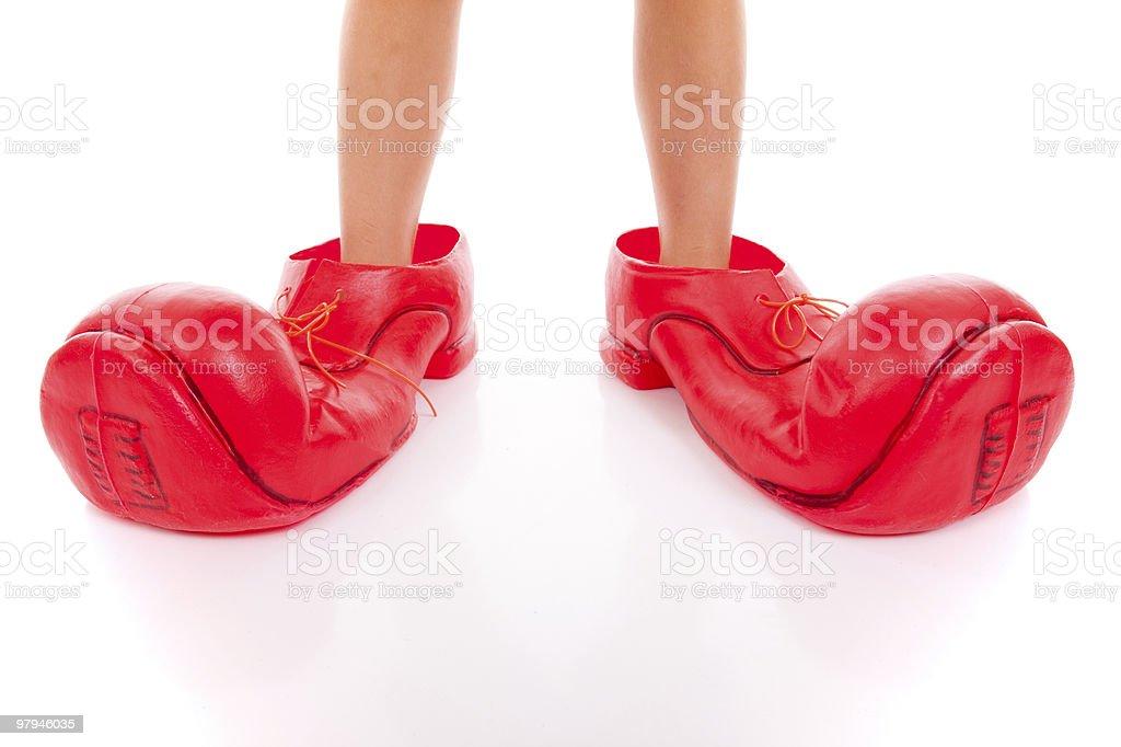 big clown shoes royalty-free stock photo