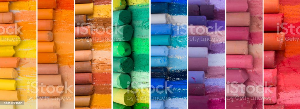Big collection of colorful banners stock photo