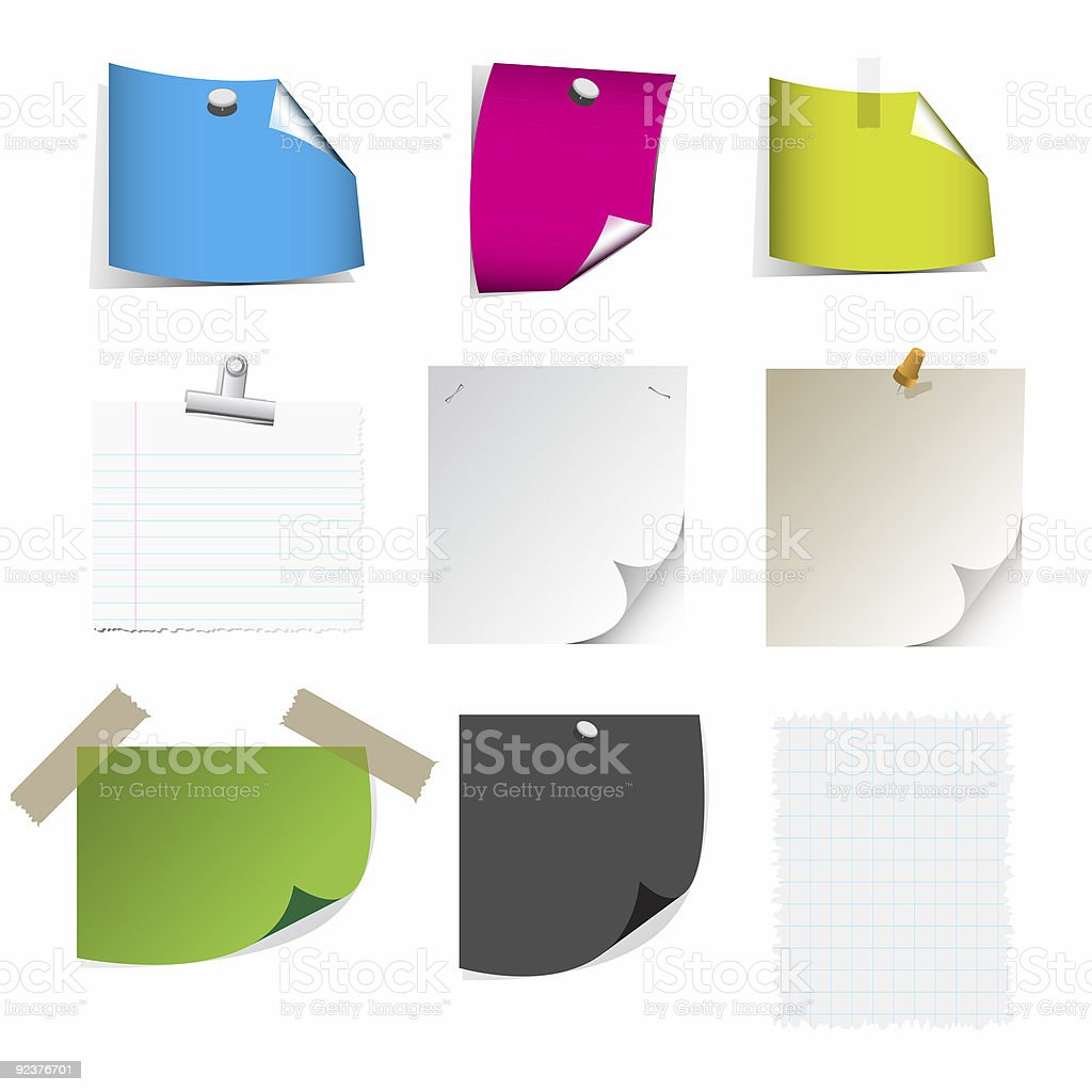 Big collection of paper message set royalty-free stock photo