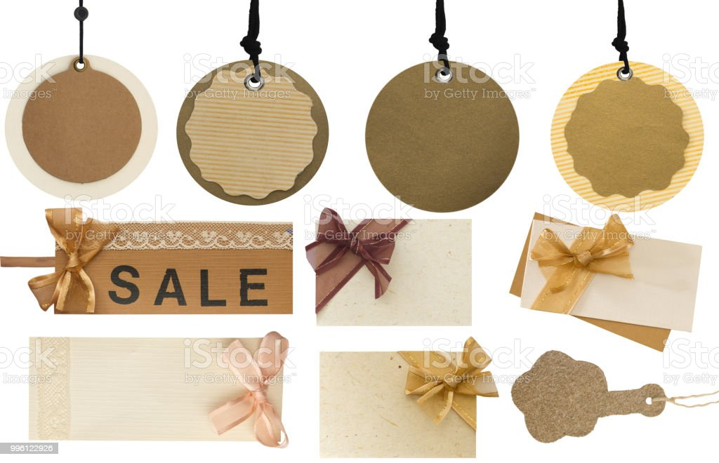 big collection of price tags, labels and notes stock photo