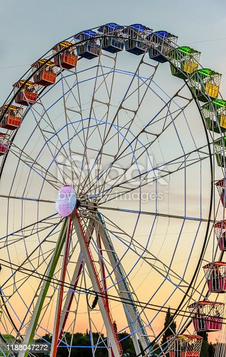 Big color wheel at a fairground