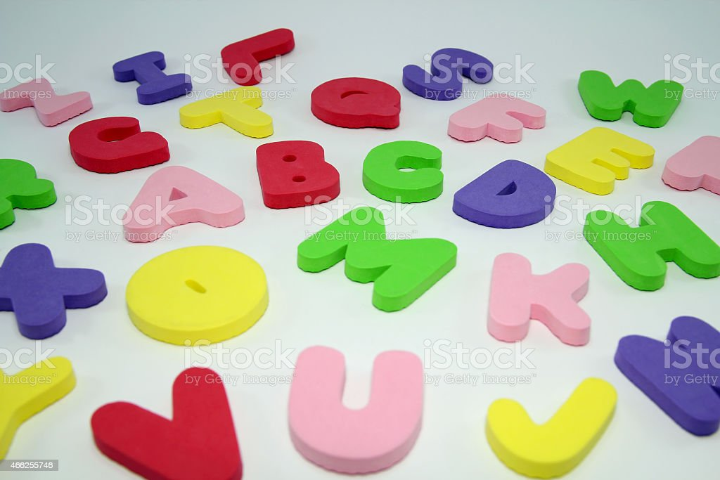 Big  Colorful Letters stock photo