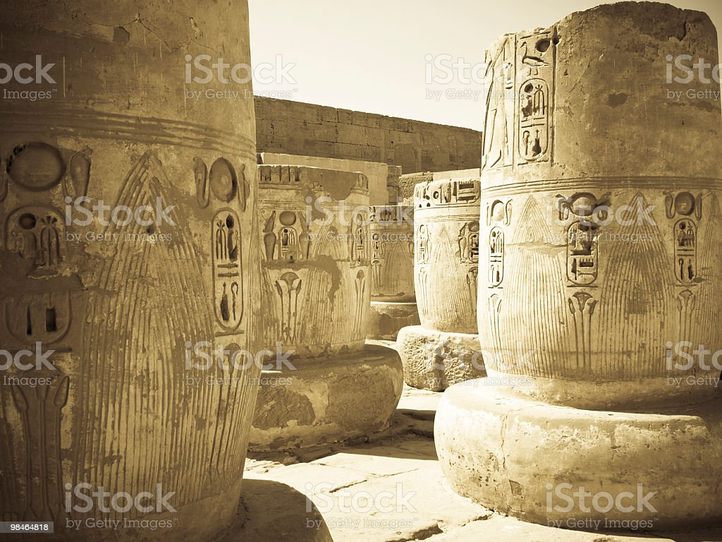 big columns in Habu temple royalty-free stock photo