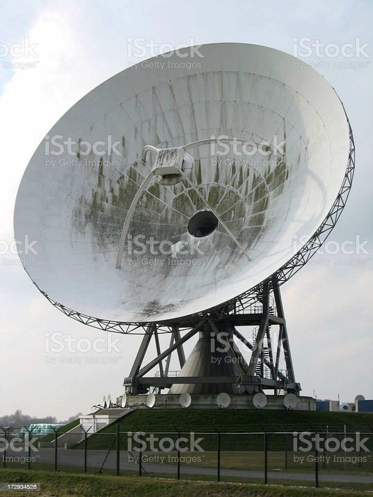 Big communication satellite dish royalty-free stock photo