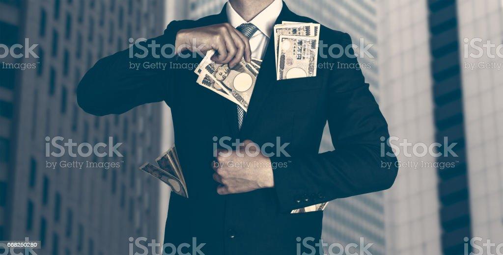 Big company and big money stock photo