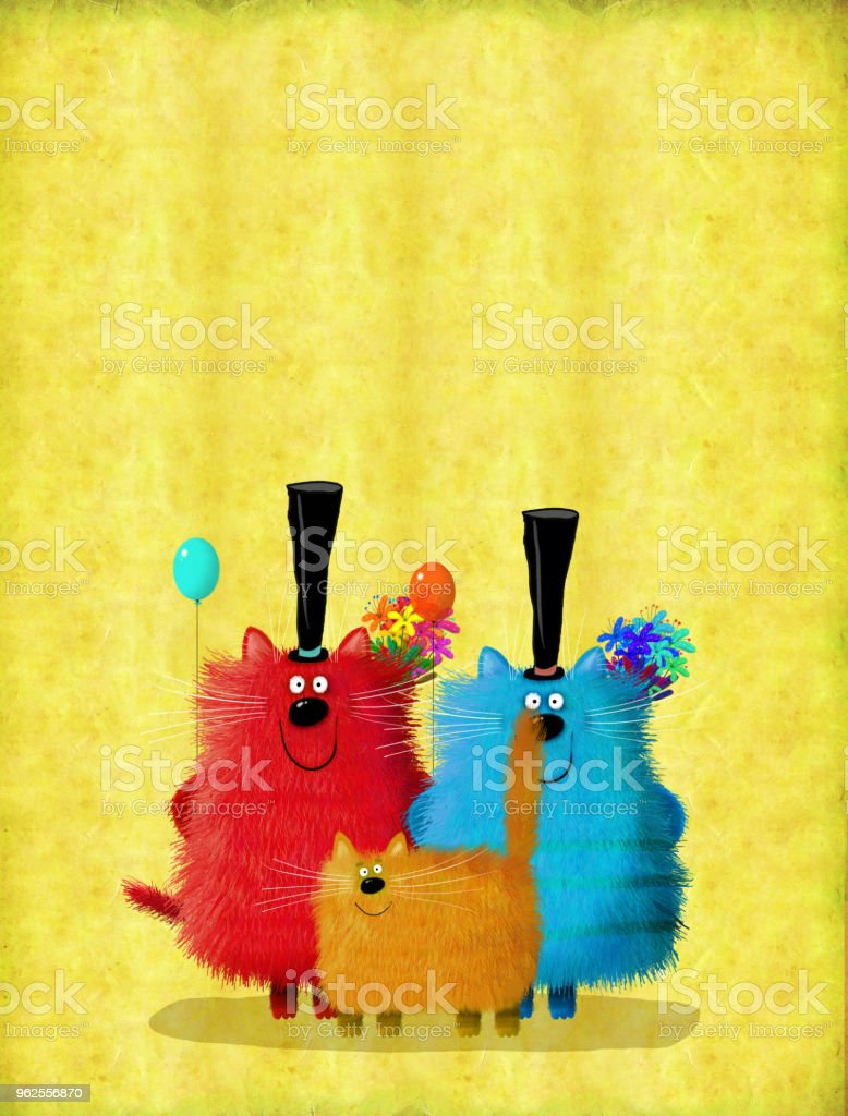 Big company of cats with flowers and balloons wishing happy birthday big company of cats with flowers and balloons wishing happy birthday royalty free stock photo izmirmasajfo