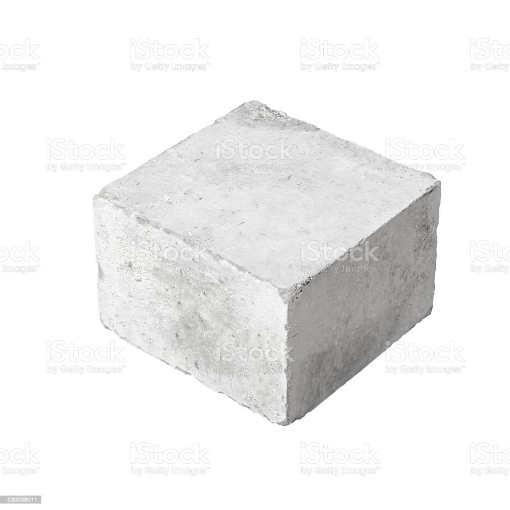 Big concrete construction block isolated on white royalty-free stock photo