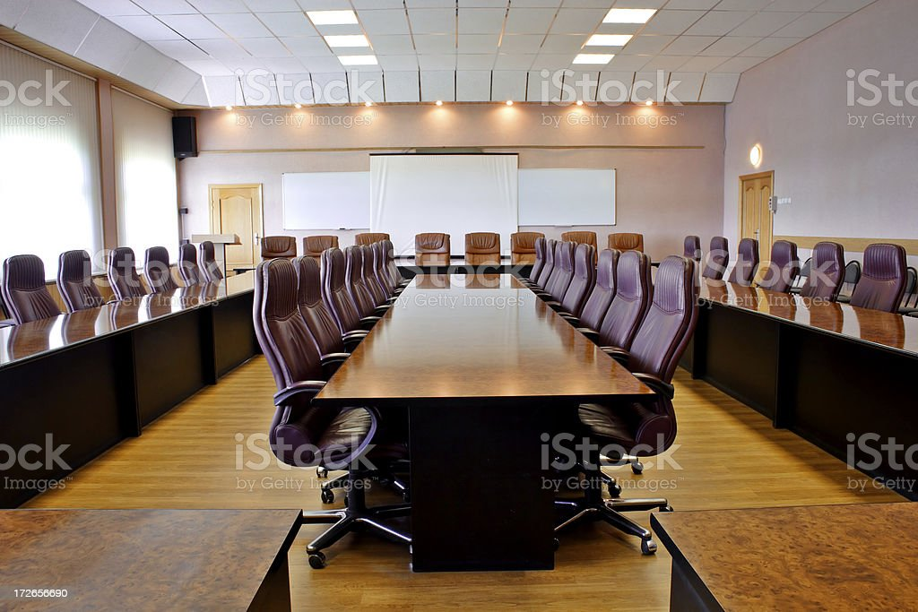 Big Conference Room Stock Photo More Pictures Of Absence IStock - Big conference table