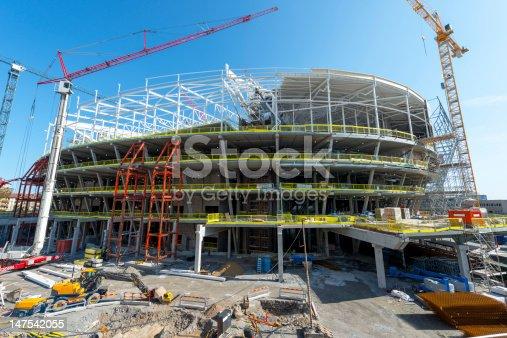 Big Construction of a arena,