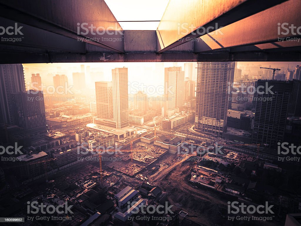 Big construction site in china stock photo