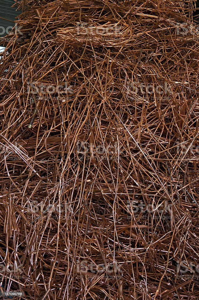 Big copper pile royalty-free stock photo