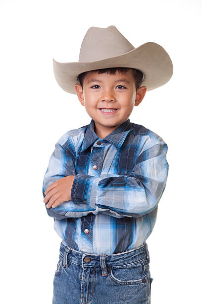 big cowboy sourire. - chapeau de cow boy photos et images de collection