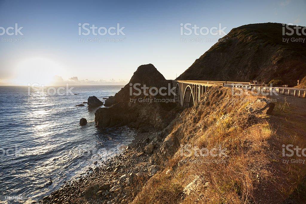 Big Creek Bridge, California, USA stock photo