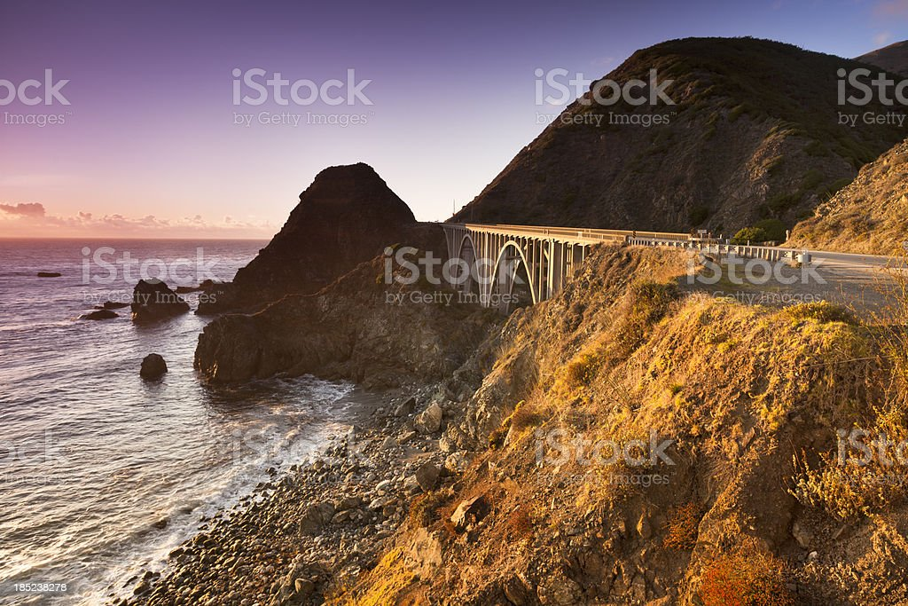 Big Creek Bridge, California, USA stock photo