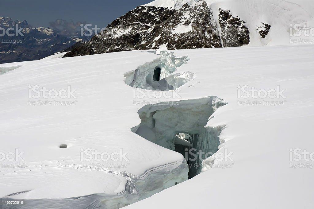 big crevasse stock photo
