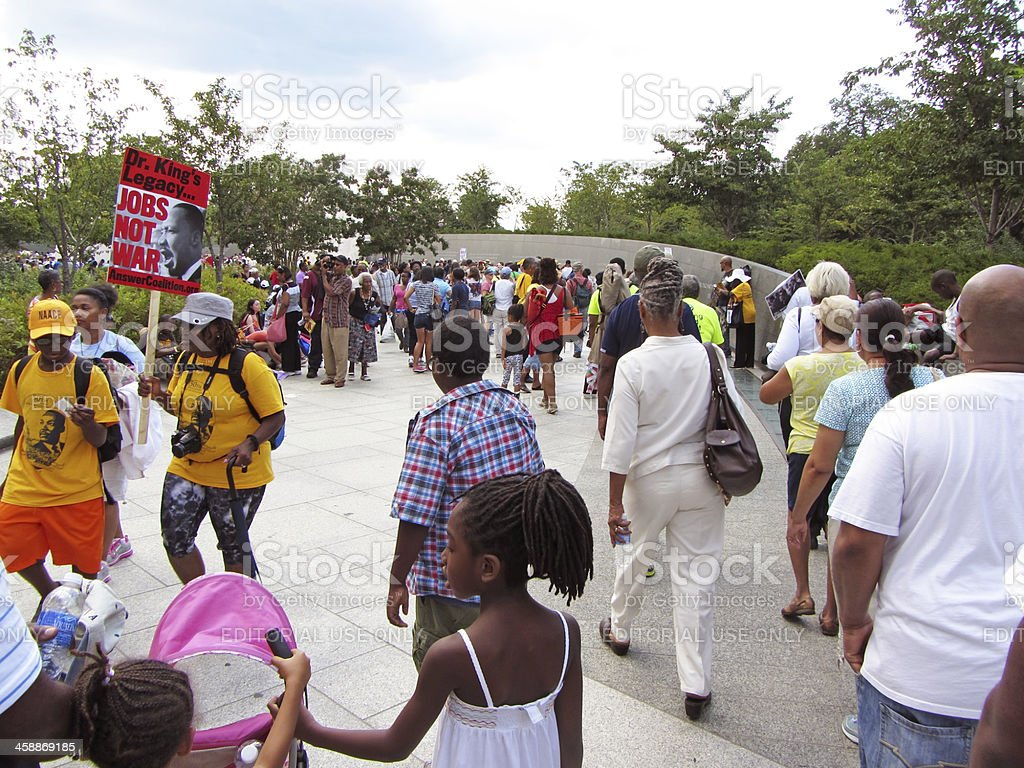Big Crowd at the Martin Luther King, Jr. Memorial stock photo