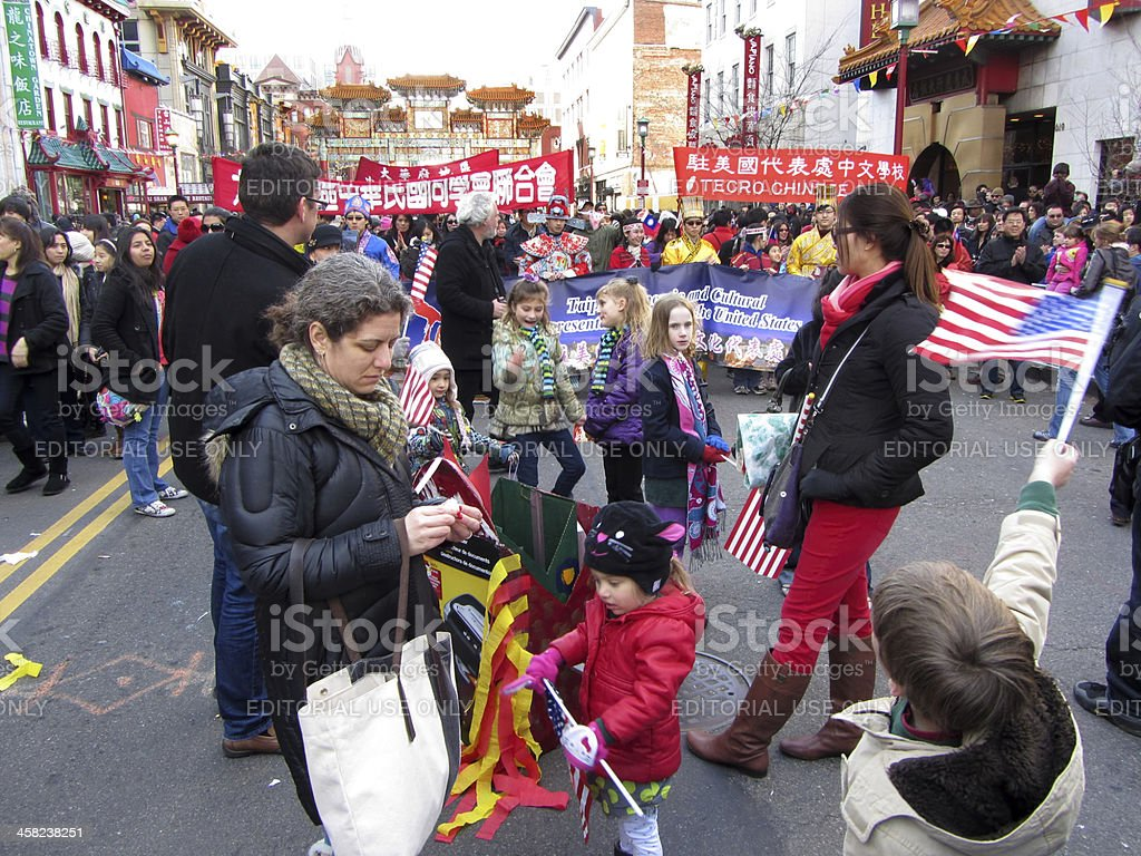 Big Crowd in Chinatown royalty-free stock photo