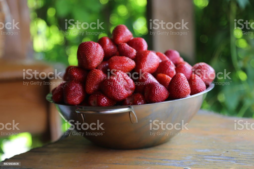 big cup with strawberry royalty-free stock photo