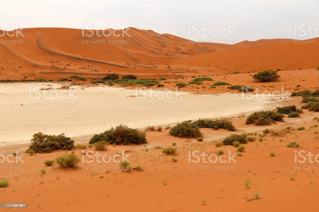 Big Daddy Sand Dune Sossusvlei Namibia Africa Stock Photo