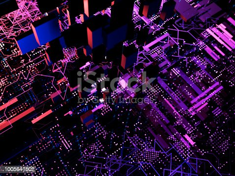 870658190 istock photo Big data abstract digital concept 1005641502