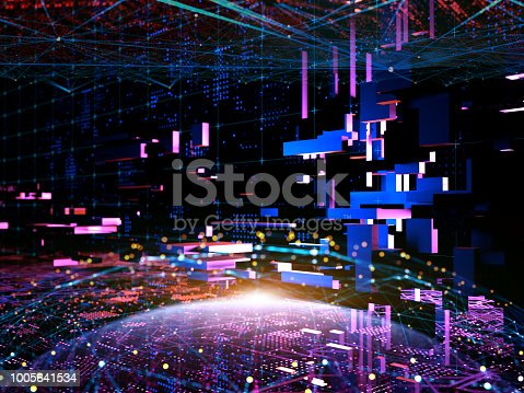 870658190 istock photo Big data abstract digital concept 1005641534