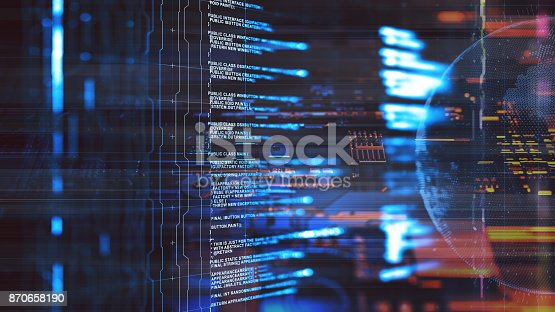 870658190 istock photo Big data abstract digital concept 870658190