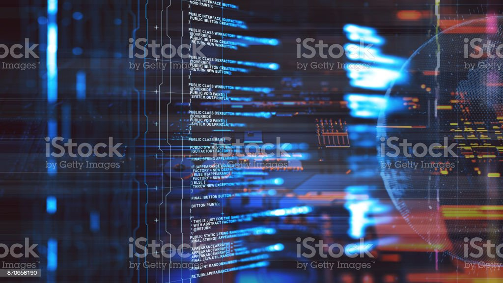 Big data abstract digital concept stock photo