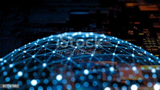 istock Big data abstract digital concept 927247652