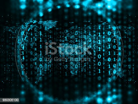 870658190 istock photo Big data abstract digital concept 930305100