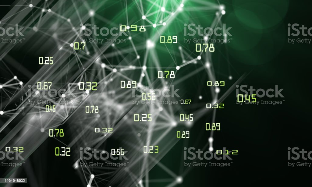 Big data. Abstract geometric background with triangular wire....
