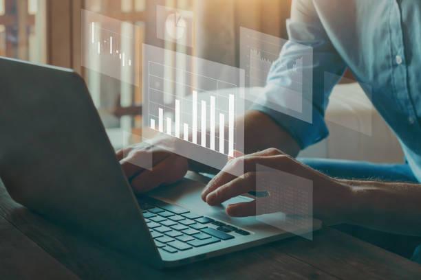 Big data analytics, business intelligence concept. stock photo