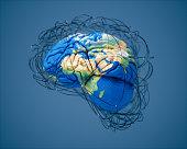 istock Big Data And Global Brainstorming (World Map Credits To NASA) 1097547860