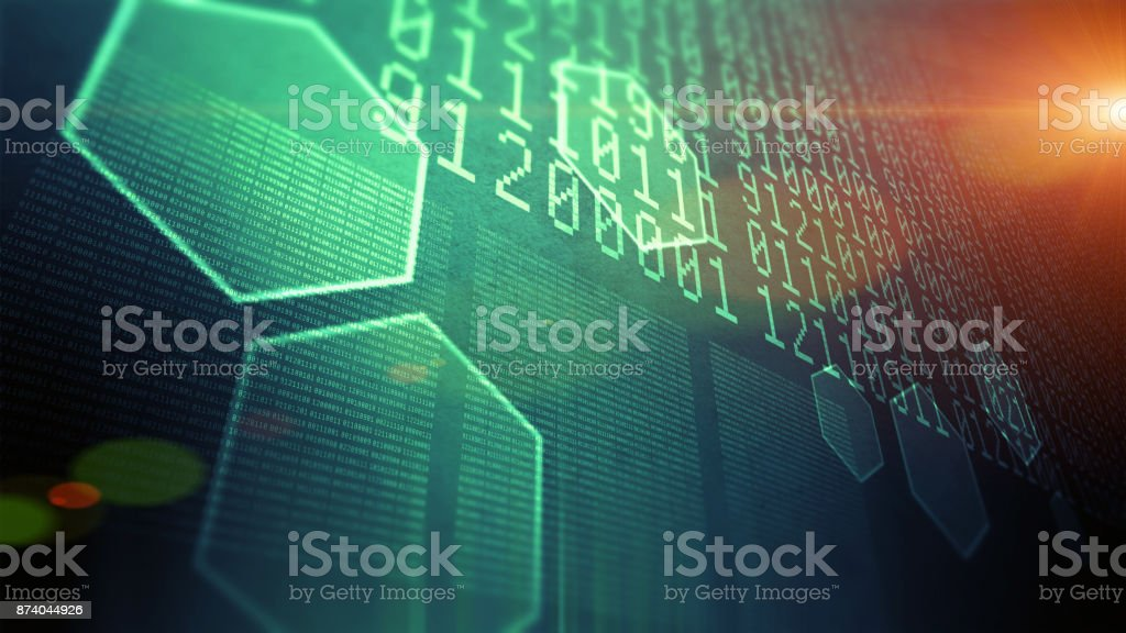 Big data and information technology stock photo