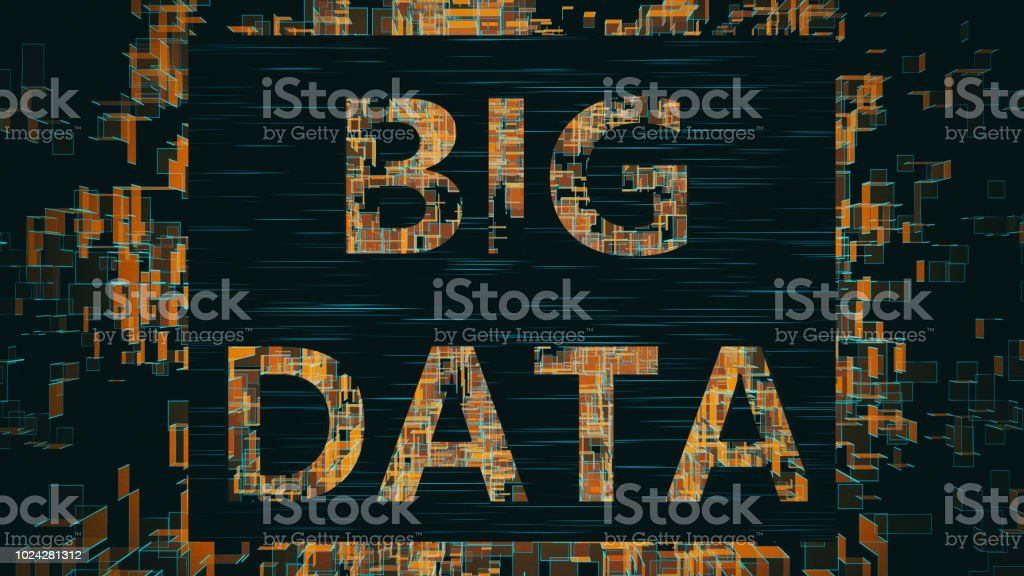 Big Data banner stock photo