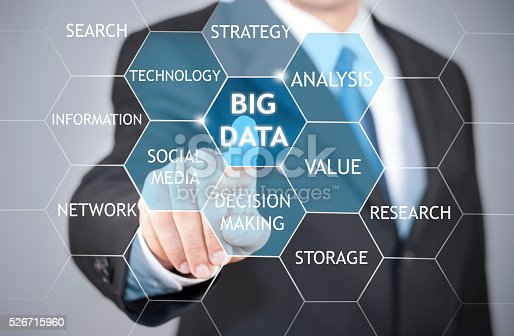 istock Big data business scientist presenting the concept 526715960