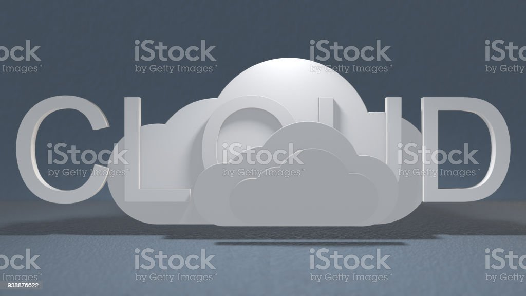 Big data cloud computing internet of things IoT online storage technology stock photo
