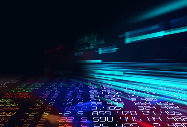 ビッグデータ未来的な可視化抽象図 ストックフォト
