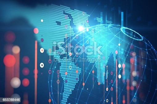 istock Big data futuristic visualization abstract illustration 653288446