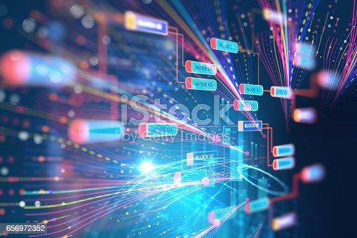 istock Big data futuristic visualization abstract illustration 656972352
