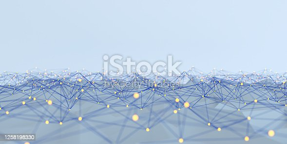 Network Abstract 3d concept Big data
