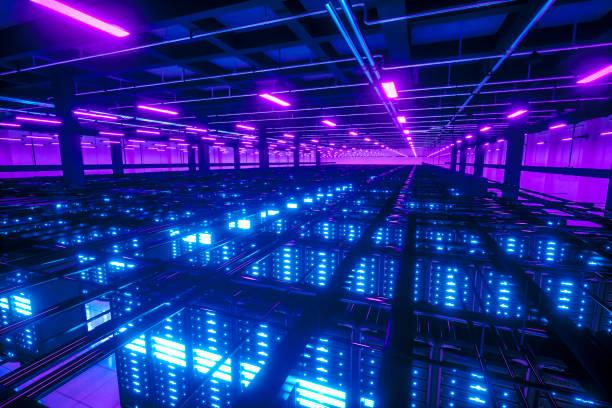 Große Daten-Netzwerk Server racks – Foto