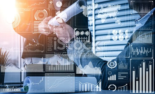 istock Big Data Technology for Business Finance Concept. 1155114364