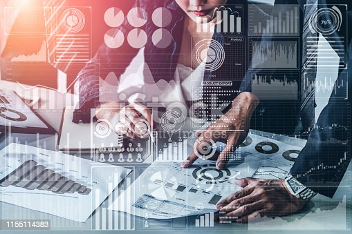 istock Big Data Technology for Business Finance Concept. 1155114383