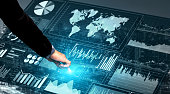 istock Big Data Technology for Business Finance Concept. 1155862191