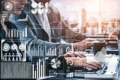 istock Big Data Technology for Business Finance Concept. 1156386795